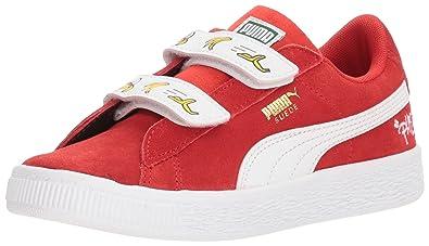 9f0ffdc82b5101 PUMA Unisex Minions Suede Velcro Kids Sneaker high Risk red White