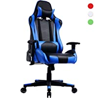 Prime Selection Products Sedia Gaming, Schienale Reclinabile; Poltrona Da Ufficio Gamer Racing Sedile