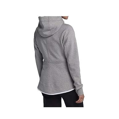 2eafe0846 Amazon.com: Nike Womens Tech Fleece Full Zip Hoodie Grey Heather/White  930759-063-Size Large: Clothing