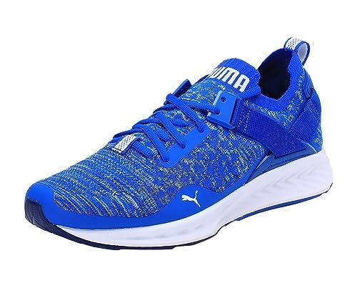Puma Men s Ignite Evoknit Lo Lapis Blue-Blue Depths-Puma White Running Shoes  - cdb497592