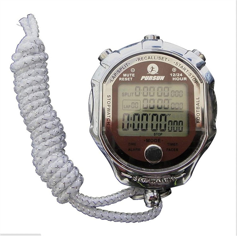 Digital Handheld Sports Stopwatch Stop Watch Time Clock