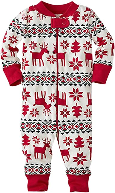 Pijamas de Navidad Familia Pijamas Navideñas Adultos Pijama Familiares Manga Larga Hombre Mujer Niños Niña Chica Bebe Ropa para Navidad Trajes ...