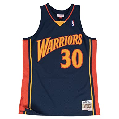 the best attitude 19a83 31457 Mitchell & Ness Stephen Curry Golden State Warriors NBA Throwback Jersey -  Navy