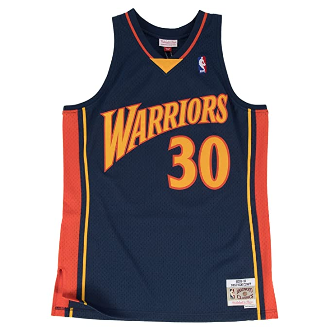 the best attitude 9a439 5e28e Mitchell & Ness Stephen Curry Golden State Warriors NBA Throwback Jersey -  Navy