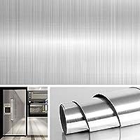 Kitchen Backsplash Stickers Wallpaper, Waterproof Removable Peel and Stick Wallpaper for Kitchen Cabinet Refrigerator…