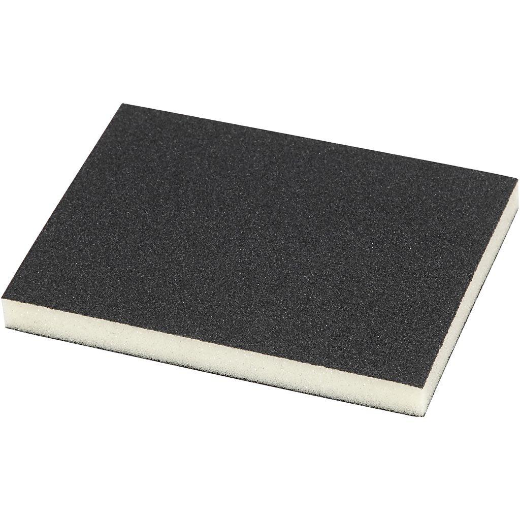Sanding Sponge, size 9,5x12 cm, 120 Grit, 4pcs Creativ Company