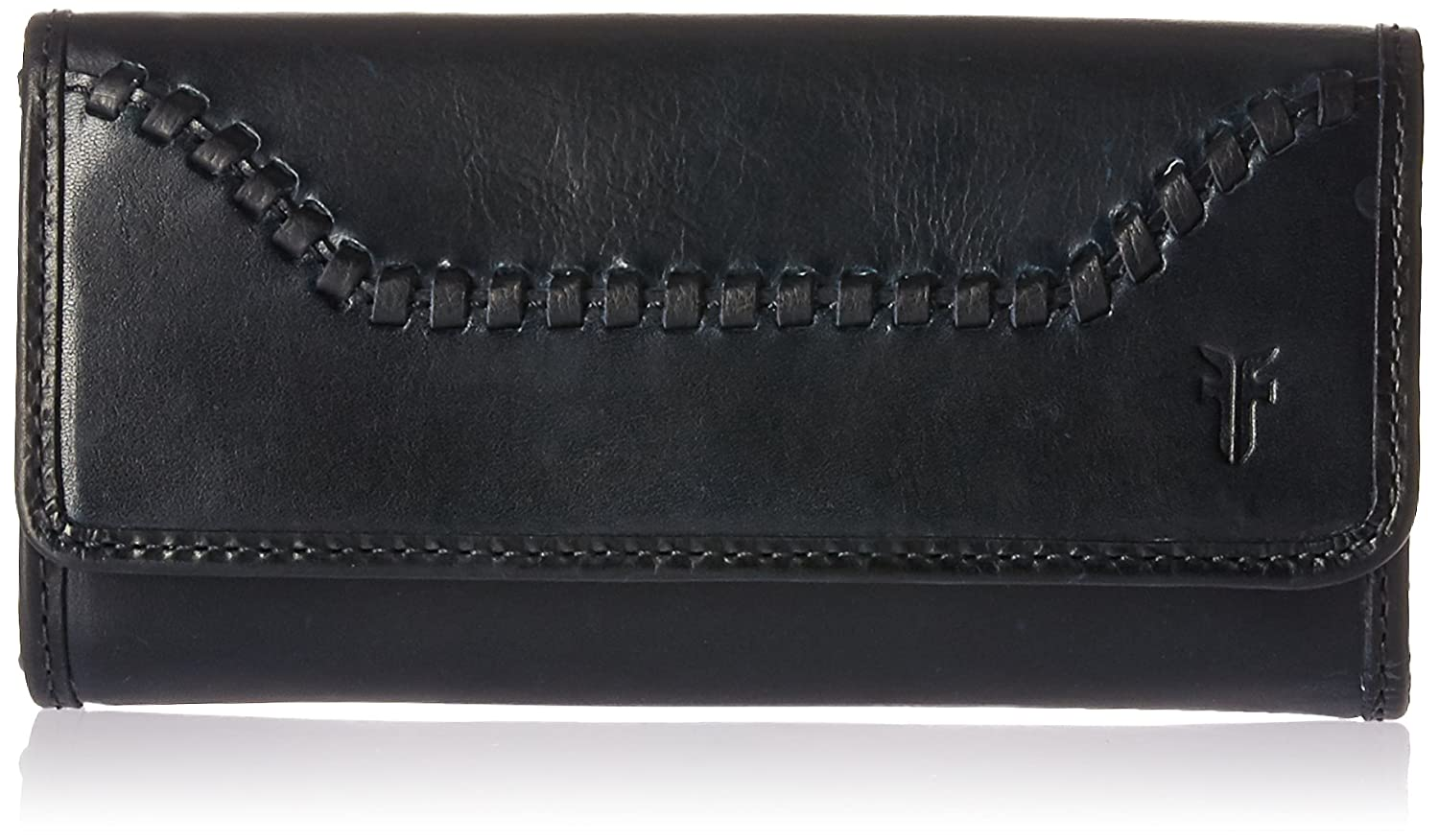 FRYE Melissa Continental Whipstitch Snap Wallet NAVY One Size DB389