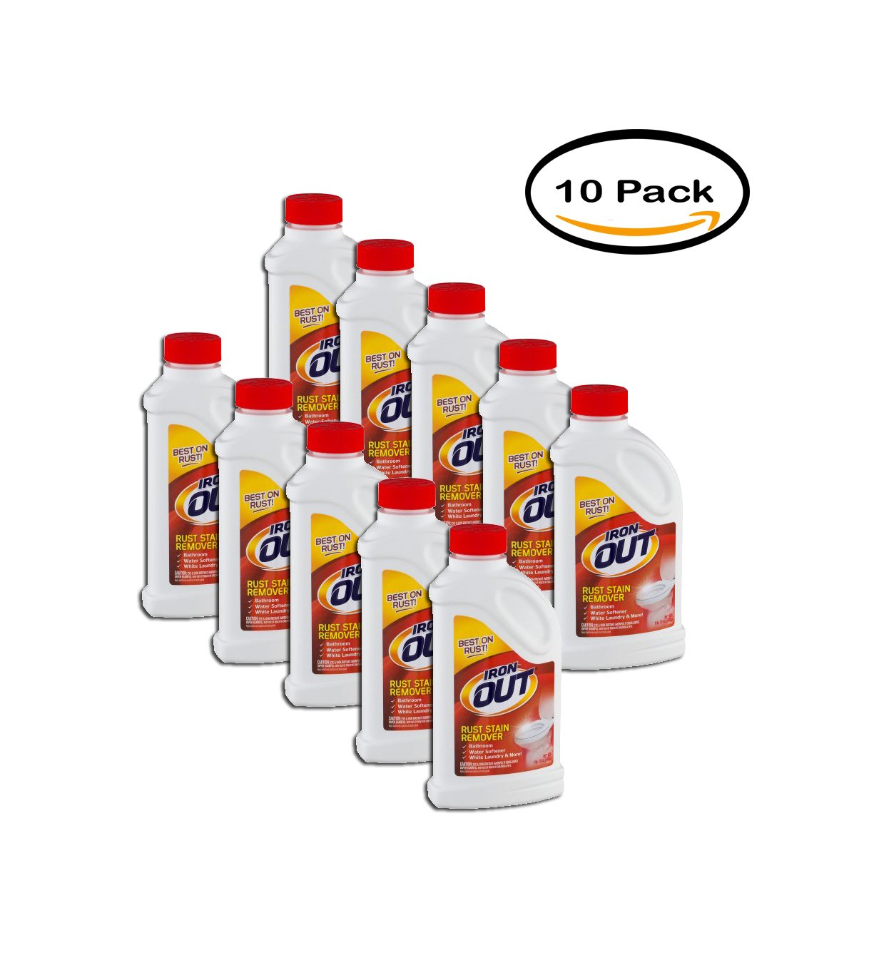 PACK OF 10 - Iron Out Rust Stain Remover, 28.0 OZ