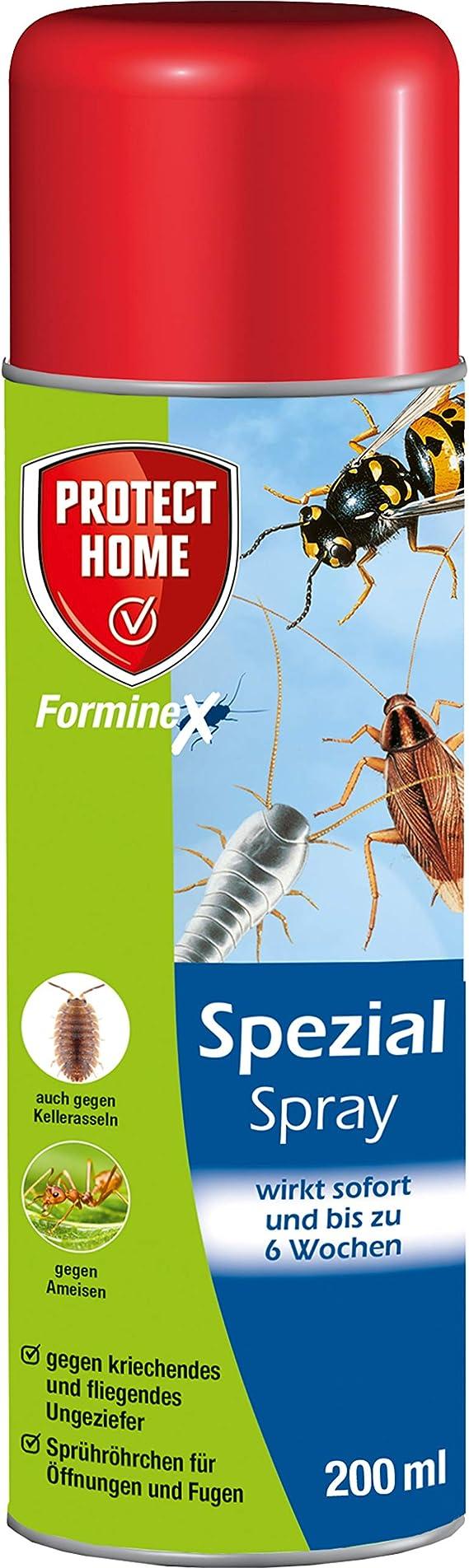 Protect Home Forminex Spezial Spray Gegen Kriechendes Fliegendes Ungeziefer Ehem Bayer Garten Blattanex 200 Ml Amazon De Garten