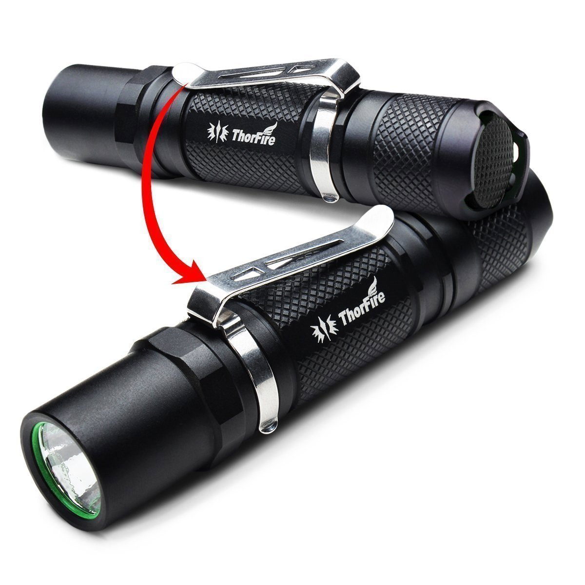 ThorFire Mini Flashlight, 500 Lumen Professional EDC Tactical Light with Strobe, Compact TG06S Powered by AA or 14500 Battery (Not Included) by Thorfire (Image #5)