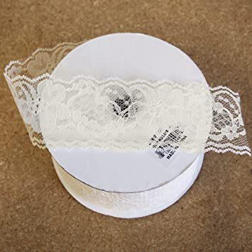 Amazon Lace Ribbon In Ivory 2 Wide X 25 Yds