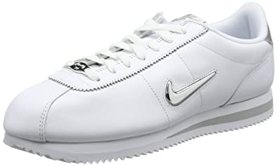 best service 9f79f b1653 Nike Men s Cortez Basic Jewel Gymnastics Shoes, (White Metallic Silver), 6
