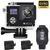 YDI G80 Action Cam 4K Impermeabile WiFi Sport Camera Videocamera 16MP Ultra HD Schermo Doppio con Telecomando e 2*1050mAh Batterie