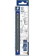 Staedtler Noris 120-2. Lápices de madera certificada. Caja de 12 unidades de lapiceros con graduación HB