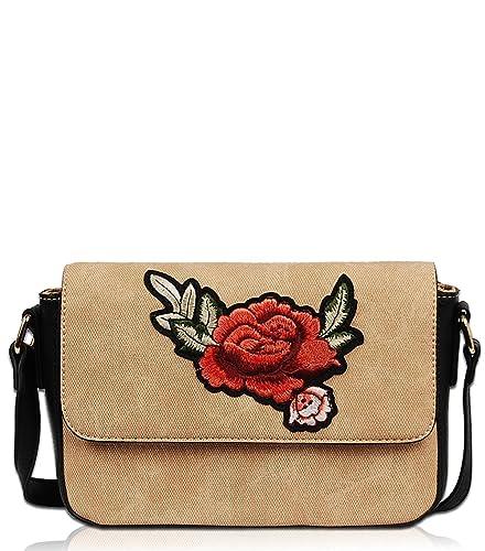 2e40ba8bf61e Vieta Aadite embroidered Cross body bags PC1435 (Beige)  Handbags ...