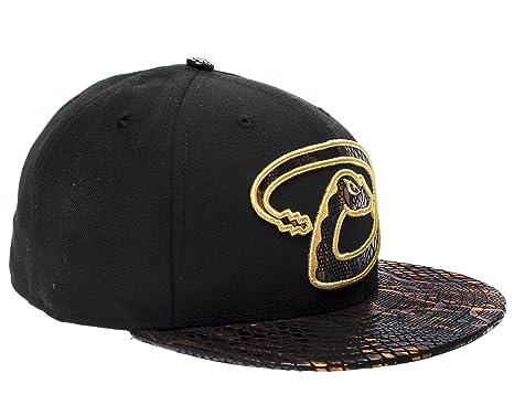 79b65fe6df0 Amazon.com  New Era 59Fifty Arizona Diamondbacks Metallic Snake Vize Mens  Fitted Hat 5950-SNAKEVIZEARIDIA Black 758 M US  Clothing
