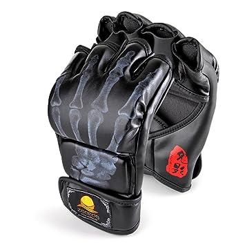 GranVela® Los guantes de boxeo, ZOOBOO Guantes de combate Sports MMA Entrenamiento de Boxeo