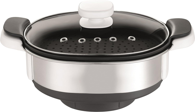 Krups XF552D batidora y accesorio para mezclar alimentos - Accesorio procesador de alimentos (Negro, Acero inoxidable, Transparente, Acero inoxidable, De plástico, Krups Prep & Cook HP 5031, 399 mm, 195 mm, 356 mm): Amazon.es: Hogar
