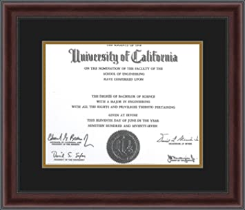 arttoframes mahogany and burgundy with beaded lip diploma frame with 1 11x14 opening double