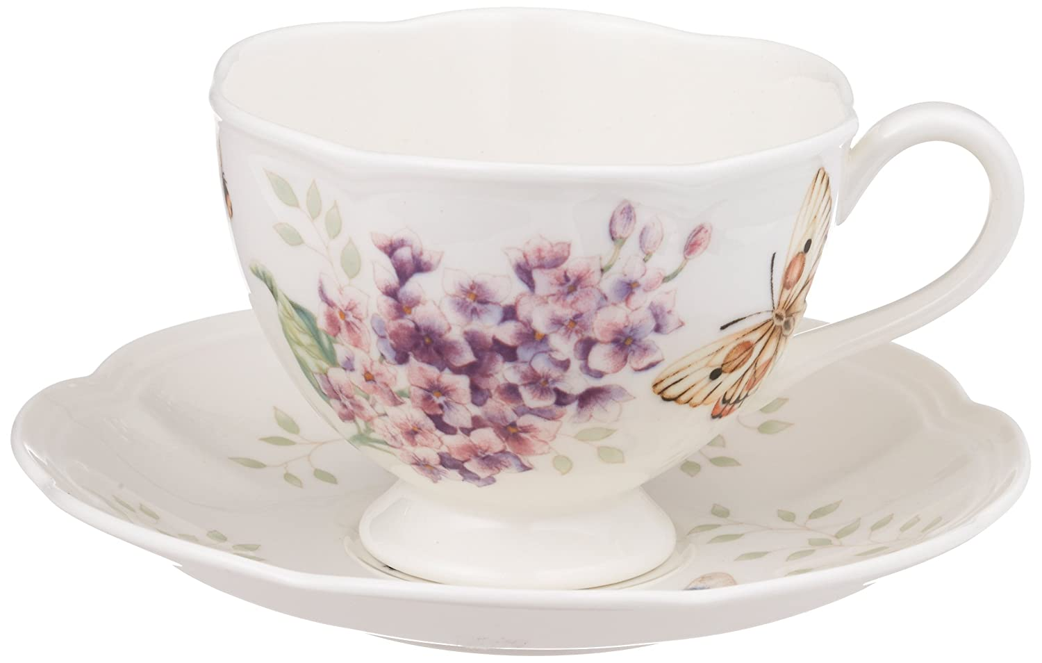 Lenox Butterfly Meadow Orange Sulphur 8-Ounce Cup and Saucer Set - 812105