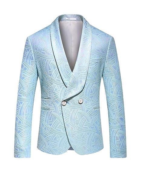 Amazon.com: MOGU Chaqueta Jacquard Blazer de lujo para ...