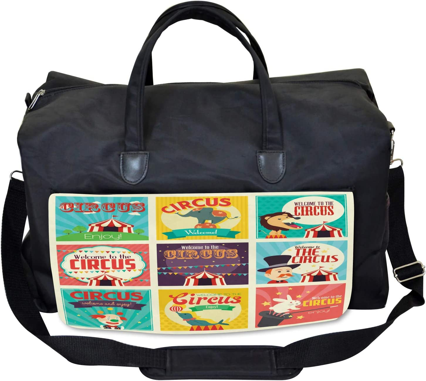 Carnival Old Circus Large Weekender Carry-on Ambesonne Colorful Gym Bag