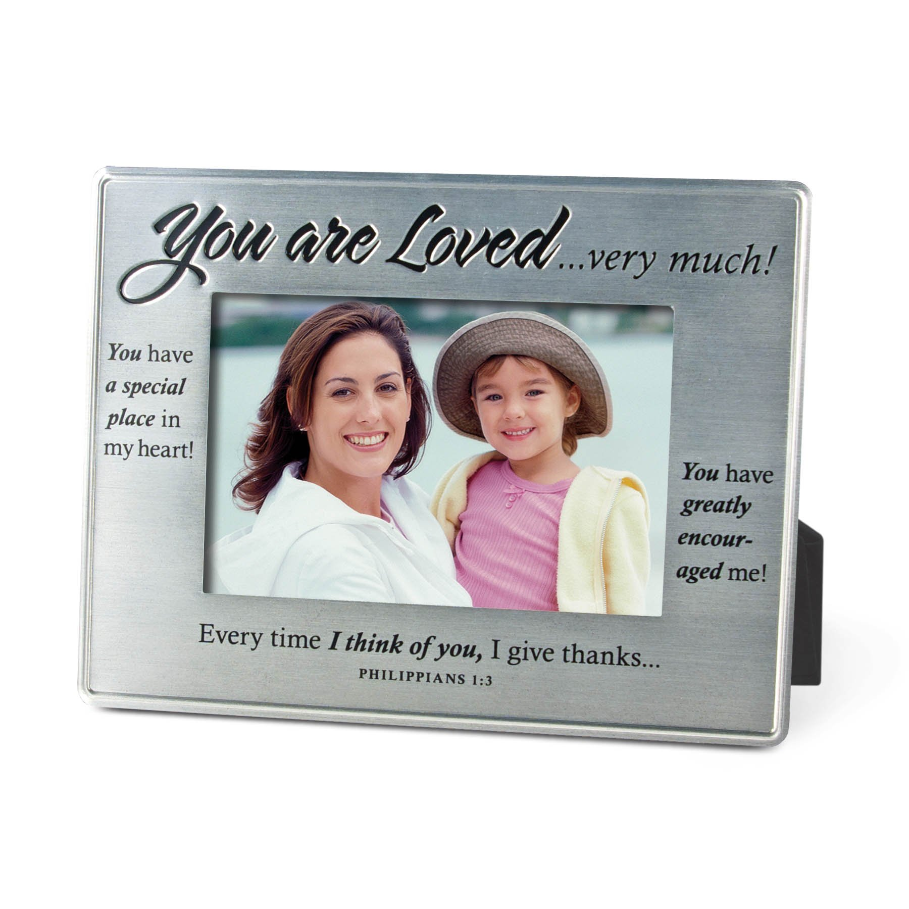 Lighthouse Christian Products More Than Words You are Loved Metal Frame, 4 x 6