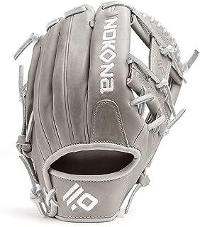 product image for Nokona American KIP 14U Gray with Silver Laces 11.25 Baseball Glove I-Web Right Hand Throw