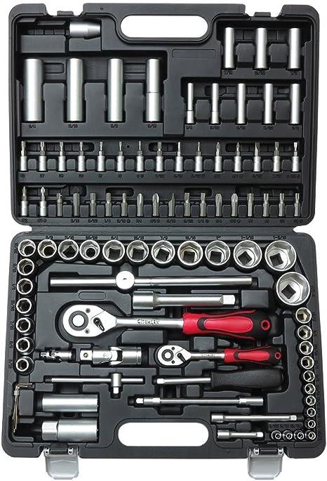 Inch Werkzeugkoffer 48 Teile zölliges Werkzeug Knarrenkasten Geschenk US Bike