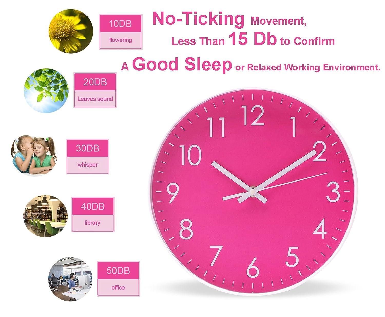Epy Huts Modern Simple Wall Clockindoor Non Ticking Silent Quartz