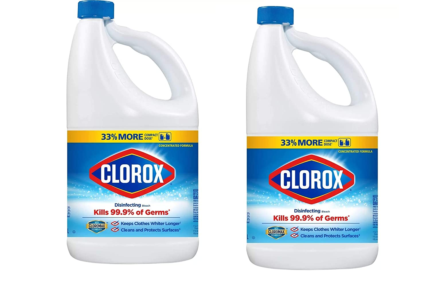 Clorox Disinfecting Bleach, Regular - 81 Ounce Bottle, 6.26 Fl oz
