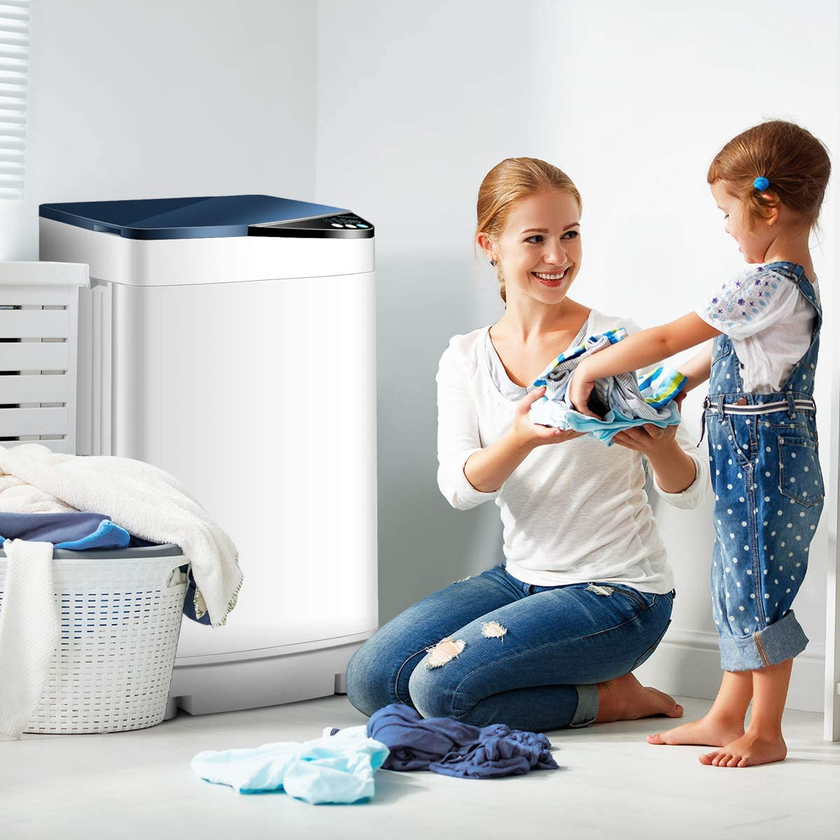 Amazon.com: Giantex Lavadora automática y portátil, lavadora ...