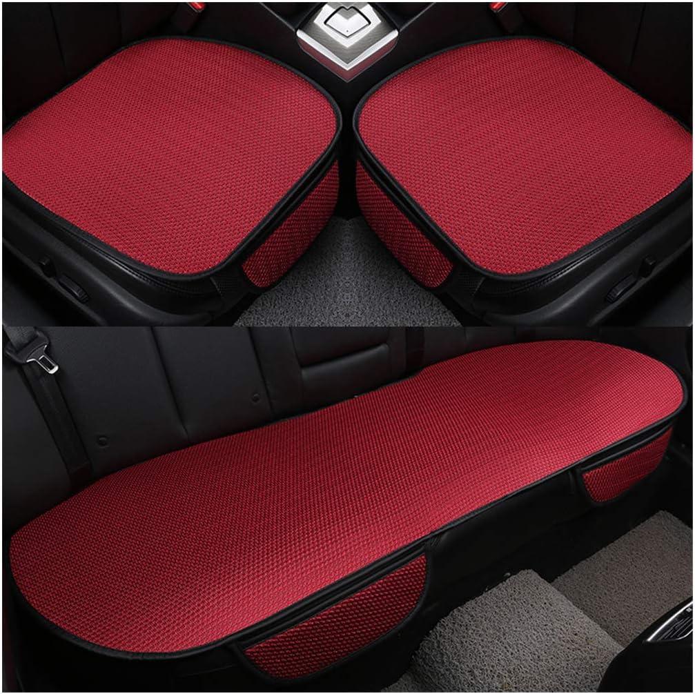 Guocu Auto Sitzkissen Sommer Auto Sitz Kissen Einzelne Auflage Eis Seide Quadrat Auflage Backless Universal Anti Rutsch Freies Das Sitz Kissen Bindet Rot Rücksitz Auto