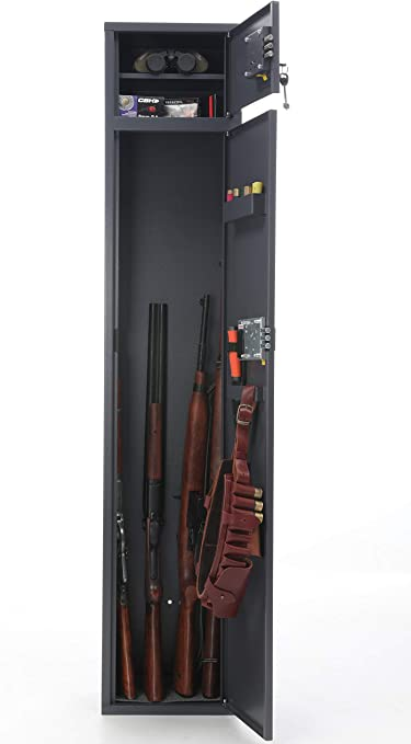 Cabinet Box Safe Armored Speargun Gun Rack 2 seater Rifles Hunting