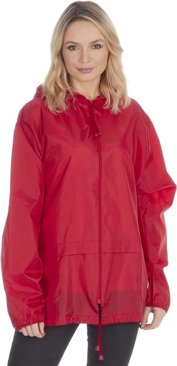 sin dibujos Chaqueta unisex con capucha para adultos abrigo de lluvia sin forro impermeable