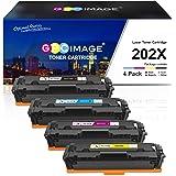 GPC Image Compatible Toner Cartridge Replacement for HP 202X 202A CF500X CF500A to use with Laserjet Pro MFP M281fdw M254dw M281cdw M281 M281dw M280nw Toner Printer (Black, Cyan, Magenta, Yellow)