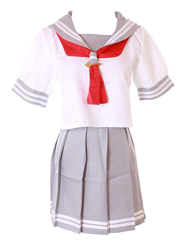 MN-36 Love Live Sunshine Aquors Schuluniform Matrosen Grau Weiß Anime Cosplay