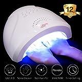 Nail Dryer, Nail Curing Lamp, 48W 24W Nail Light, for UV LED Nail Gel Polish, for Fingernail Toenail, with Timer Setting Senor, Modelones