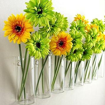 amazon com crystal glass wall hanging flower vase planter terrarium