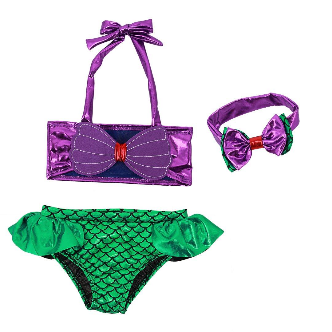 Amazon.com: Multifit Toddler Girls Lovely Swimsuit Beach ...