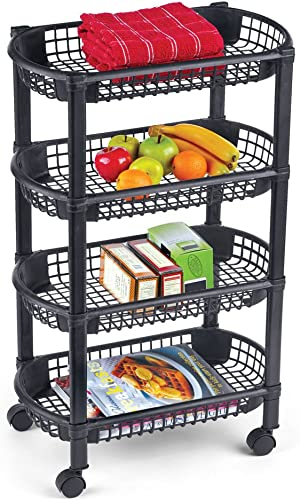 Collections Etc 4-Tier Rolling Cart