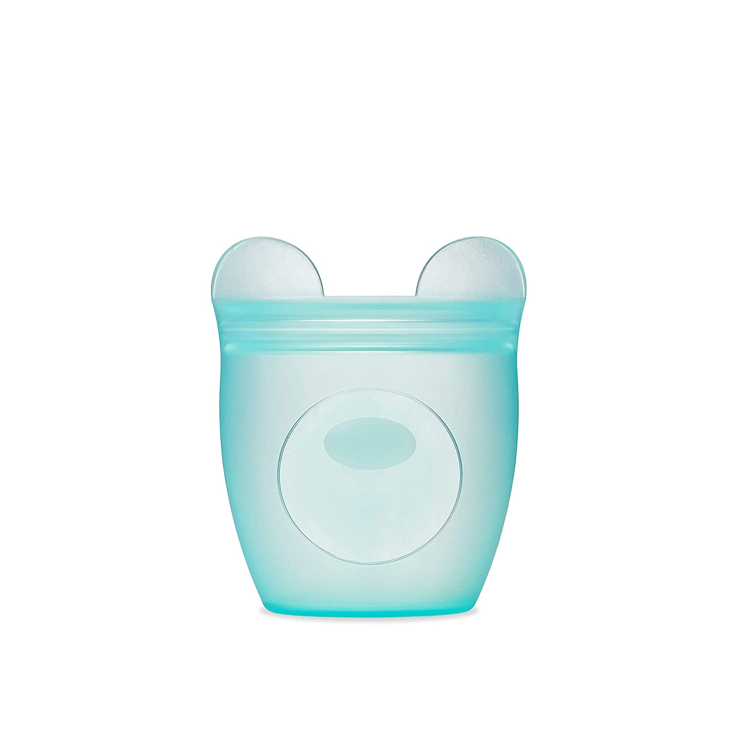 Zip Top 100% Platinum Silicone Baby Snack Containers (Bear)
