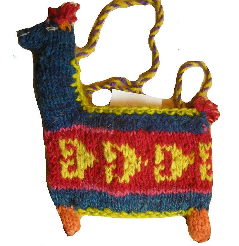 Feria de lana de llama en forma de hombro / monedero [Ropa ...