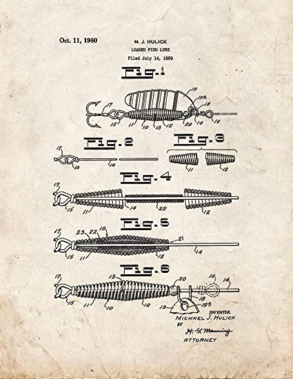 Fishing Lure Patent Print Old Look