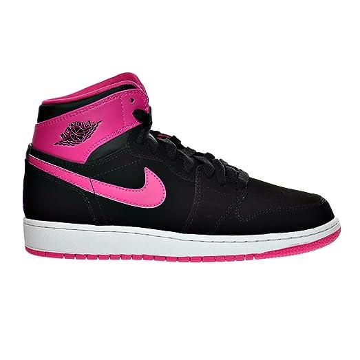 d9910ecfb631 ... czech air jordan 1 retro high gg big kids shoes black vivid pink white  332148 b6e32