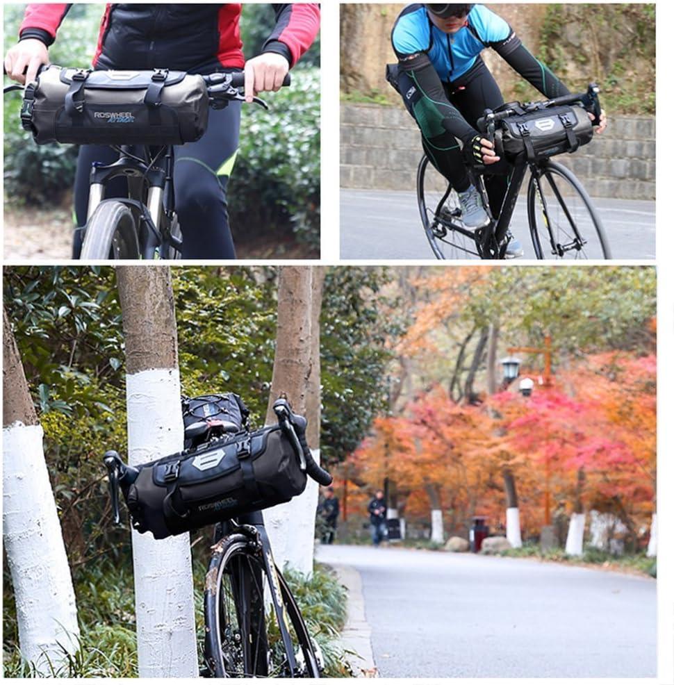 Bolsa Impermeable para Manillar de Bicicleta E-Goal Roswheel con Apertura Enrollable Carretera Bicicleta MTB Parte Superior Delantera Bicicleta tama/ño Ajustable 3 monta/ña 7 L
