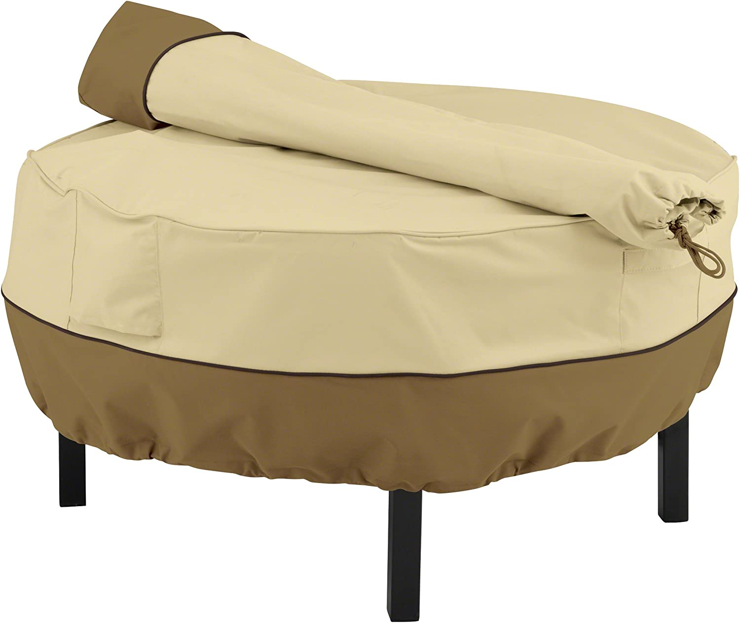 Classic Accessories Veranda Water-Resistant 40 Inch Cowboy Fire Pit Grill Cover and Storage Bag