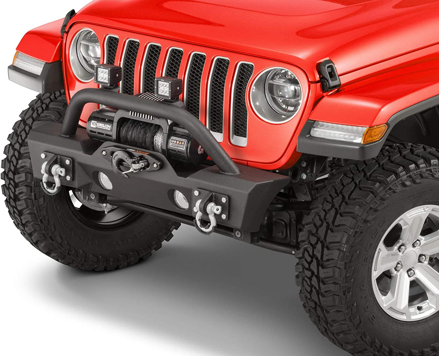 TACTIK HD Stubby Front Bumper - Fits Jeep Wrangler JL and Gladiator JT