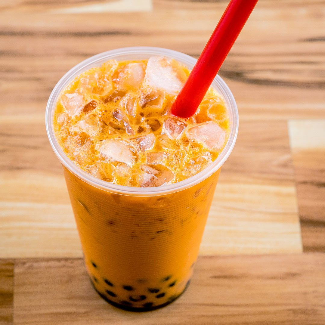 BEST-SELLING BUBBLE TEA SUPPLY INSTANT THAI TEA SMOOTHIE FLAVORED POWDER BOBA BUBBLE DRINK PREMIUM AWARD WINNING CUSTOMERS #1 CHOICE 50 SERVINGS (INSTANT THAI TEA BUBBLE TEA POWDER)
