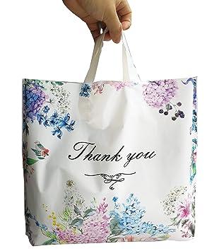 Amazon.com: 50 bolsas de plástico con texto en inglés «Thank ...